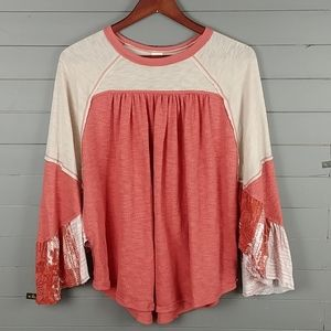 We The Free Long Sleeve Shirt/blouse top